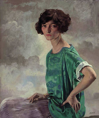 Portrait Of Getrude Sanford Poster by William Orpen