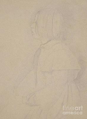 Portrait Of Giulia Bellelli Poster by Edgar Degas