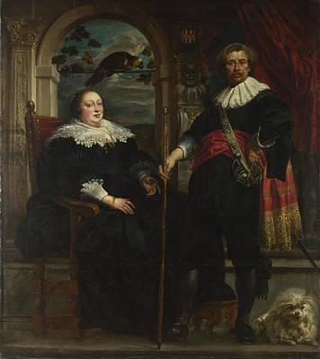 Portrait Of Govaert Van Surpele And His Wife Poster