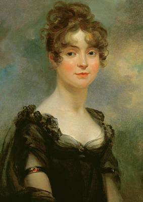 Portrait Of Harriet Leonard Bull  Poster by Arthur William Devis