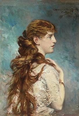Portrait Of Harriet Valentine Poster by Giovanni Boldini