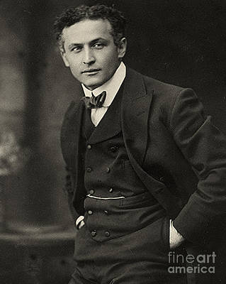 Portrait Of Harry Houdini Circa 1913 Poster