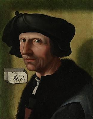 Portrait Of Jacob Cornelisz Van Oostsanen Poster