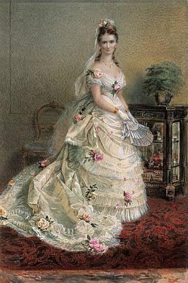 Portrait Of Julie Farmer, 1874, England, By Nicholas Chevalier. Poster
