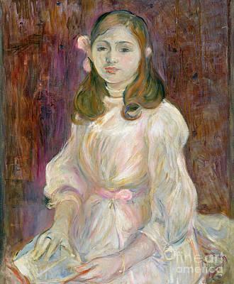 Portrait Of Julie Manet Poster by Berthe Morisot
