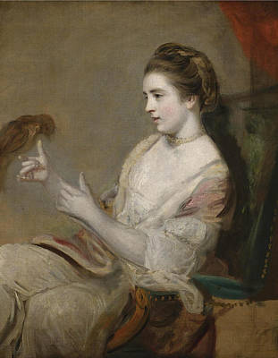 Portrait Of Kitty Fisher Poster by Joshua Reynolds
