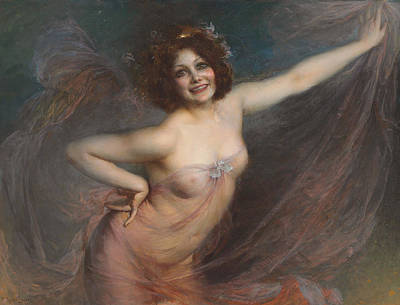 Portrait Of Loie Fuller Poster by Felix Hippolyte-Lucas
