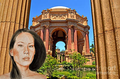 Portrait Of Lucy Liu At The Palace Of Fine Arts Poster by Jim Fitzpatrick