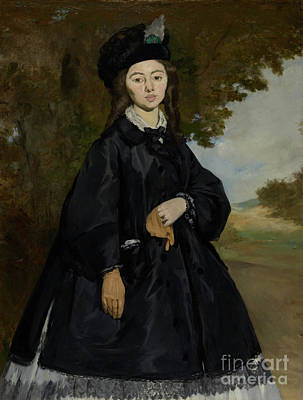 Portrait Of Madame Brunet By Edouard Manet  Poster