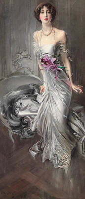 Portrait Of Madame Eugene Doyen Poster by Giovanni Boldini