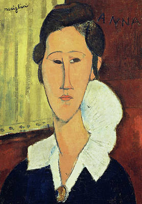 Portrait Of Madame Hanka Zborowska, 1917 Poster by Amedeo Modigliani