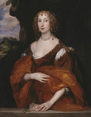 Portrait Of Mary Hill, Lady Killigrew Poster by Anthony van Dyck