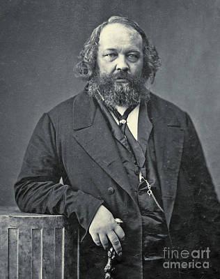 Portrait Of Mikhail Aleksandrovich Bakunin Poster by Nadar