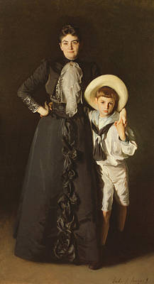 Portrait Of Mrs Edward L Davis And Her Son, Livingston Davis, 1890 Poster