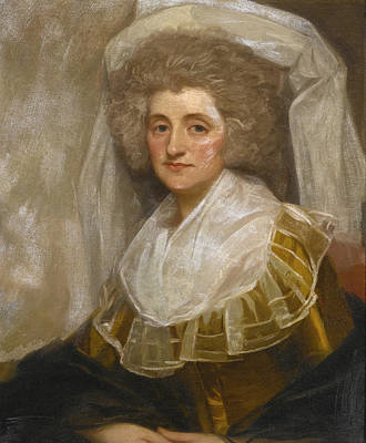 Portrait Of Mrs. Francis Ingram Poster by George Romney