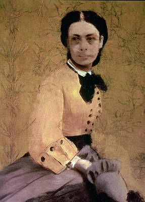 Portrait Of Princess Pauline De Metternich Poster by Edgar Degas