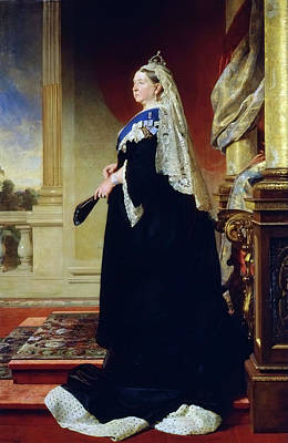 Portrait Of Queen Victoria As A Widow Poster