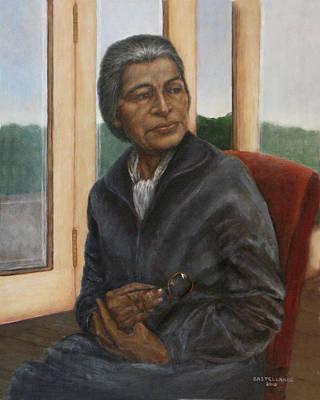Portrait Of Rosa Parks Poster by Sylvia Castellanos