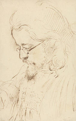 Portrait Of Samuel Palmer, Head And Shoulders Poster by George Richmond