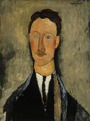 Portrait Of The Artist Leopold Survage Poster by Amedeo Modigliani
