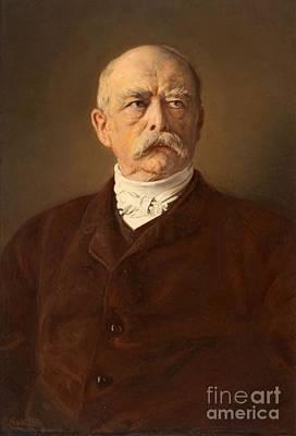 Portrait Of The Chancellor Otto Von Bismarck Poster