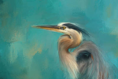 Portrait Of The Heron Poster by Jai Johnson