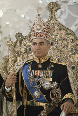 Portrait Of The Shah Of Iran Taken Poster