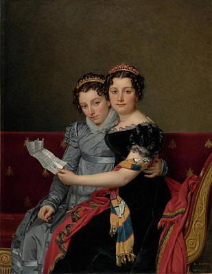 Portrait Of The Sisters Zenaide And Charlotte Bonaparte Poster