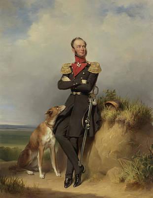 Portrait Of William II - King Of The Netherlands Poster by Jan Adam Kruseman