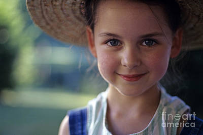 Portrait Of Young Girl Poster by Jim Corwin