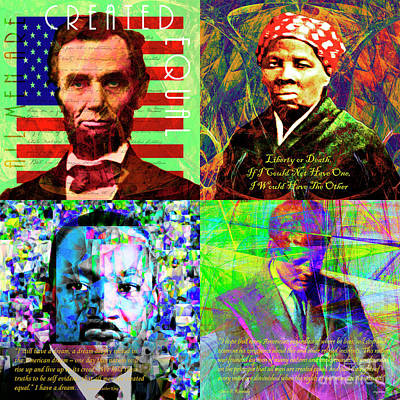 Portraits Of Freedom And Equality In America Abraham Lincoln Harriet Tubman Martin Luther King Jfk Poster