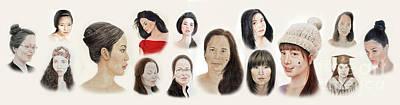 Portraits Of Lovely Asian Women II Poster