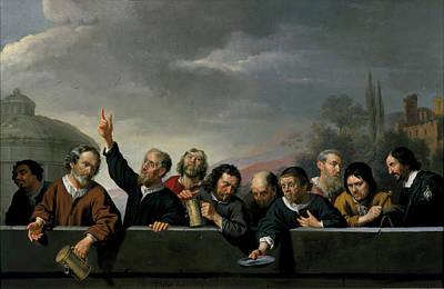 Portraits Of The Inhabitants Of St Jobsgasthuis In Utrecht Poster by Jan Van Bijlert
