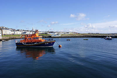Portrush Rnli Lifeboat Poster