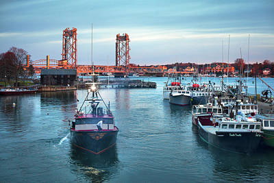Portsmouth Fishing Boats Poster by Eric Gendron
