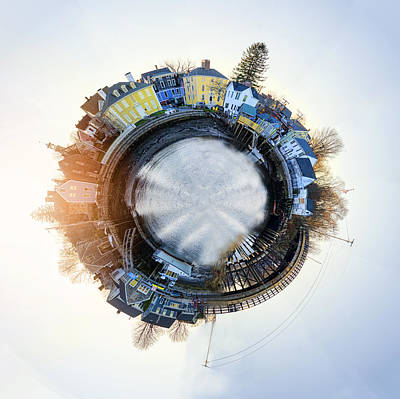 Portsmouth Tiny Planet Poster by Heather Applegate