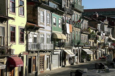 Portugal Cityscape Digital Painting Poster