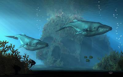 Poseidon's Grave Poster by Daniel Eskridge