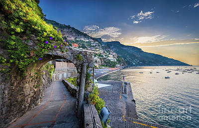 Positano Pathway Poster by Inge Johnsson