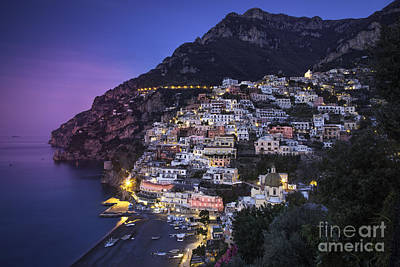 Positano Twilight Poster