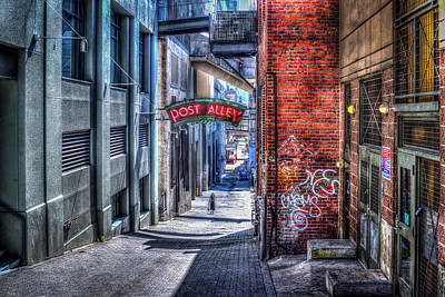 Poster featuring the photograph Post Alley Straggler by Spencer McDonald