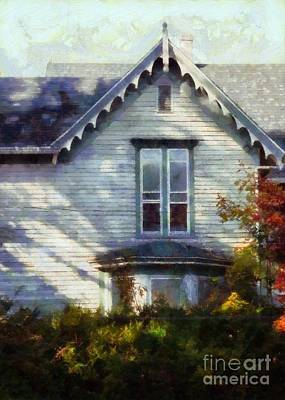 Poster featuring the photograph Postage Due - Farmhouse Window by Janine Riley