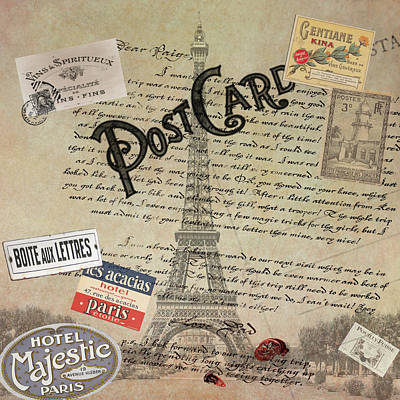 Postcards From Paris Poster by Bill Cannon