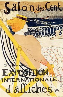 Poster Advertising The Exposition Internationale Daffiches Paris Poster by Henri de Toulouse-Lautrec