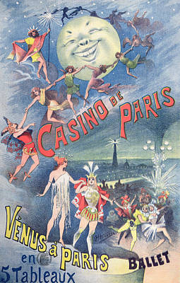 Poster Advertising The Revue Venus A Paris At The Casino De Paris Poster by Alfred Choubrac