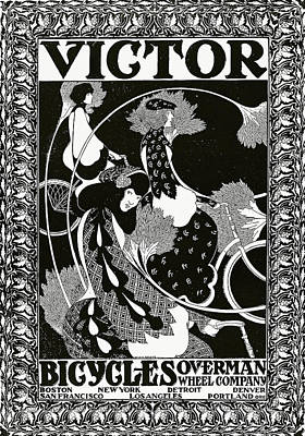 Poster Advertising Victor Bicycles Poster