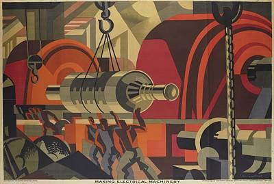 Poster, Making Electrical Machinery, 1928, United Kingdom, By Clive Gardiner, Poster