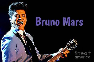 Poster Of Bruno Mars Poster