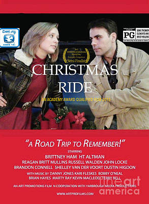 Christmas Ride Poster With Ratings Poster by Karen Francis