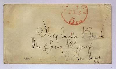 Postmarked And Addressed Envelope Poster